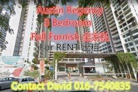 3 Bedroom Condo for rent in Taman Mount Austin, Johor