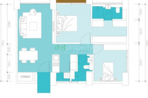 2 bedroom condo for sale in Lumi Tropicana